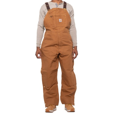104393 Quilt-Lined Bib Overalls - Insulated, Factory Seconds (For Big and Tall Men) - CARHARTT BROWN (3XL ) thumbnail
