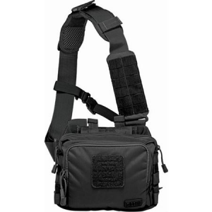 5.11 Tactical 56180 2 Self Healing Zippers Banger Bag Black with Nylon Construction thumbnail