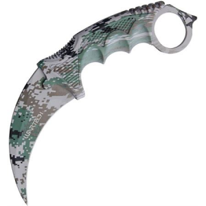 Miscellaneous 4372 Digi Camo Neck Knife with Camo Finger Grooved Nylon Handle thumbnail
