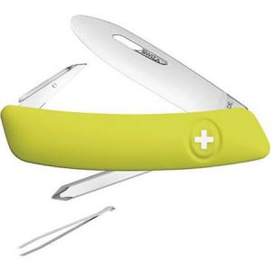 Swiza Pocket 211081 J02 Junior Pocket Multi-Tool Knife with Yellow Synthetic Handle thumbnail