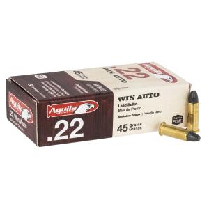 Aguila 45 gr LRN .22 Win Auto Ammunition 50 Round Box - 1B222504 thumbnail