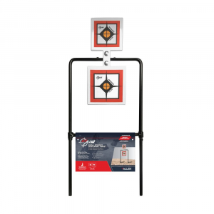 "Allen EZ-Aim Hardrock AR500 Square Spinner Targets & Stand for Rimfire Rounds & Centerfire Pistols 9.5""W x 22.75""H White/Red/Black thumbnail"