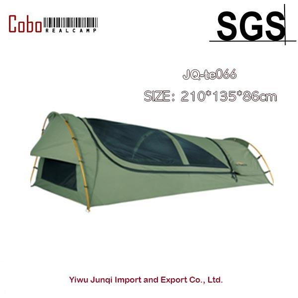 1-person camping & hiking outdoors bedding canvas swag tent deluxe aluminum poles & bag thumbnail