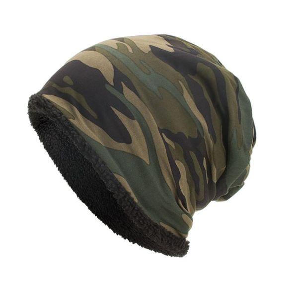 20# women men warm baggy camouflage crochet winter wool ski beanie skull caps hat fashion winter warm berets women men hats thumbnail