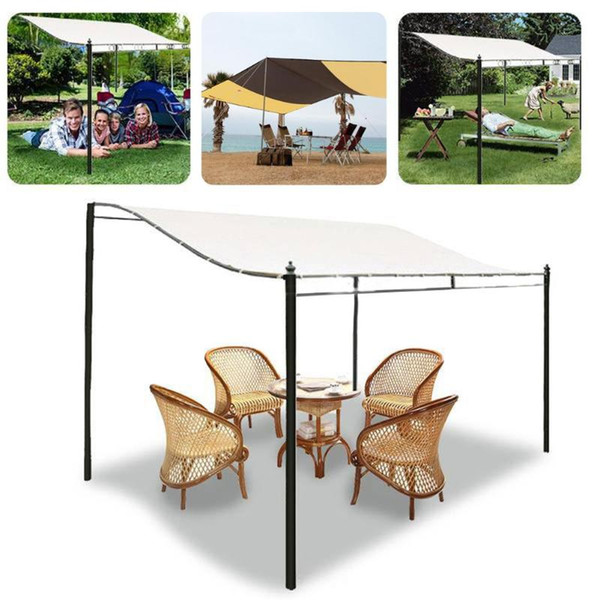 300d canvas waterproof sun shelter sunshade outdoor tent roof awning garden patio pool winds replacement canopy cover shade thumbnail