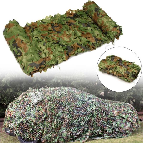 3mx5m hunting camping outdoor desert jungle army camouflage net mesh woodlands blinds camo car cover thumbnail