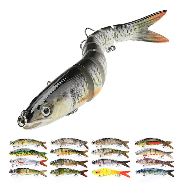 14cm 23g sinking wobblers fishing lures jointed crankbait swimbait 8 segment hard artificial bait for fishing tackle lure thumbnail