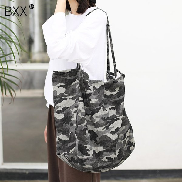 [bxx] casual canvas camouflage bags for women 2020 simple high capacity shoulder messenger bag female travel handbags hk610 thumbnail