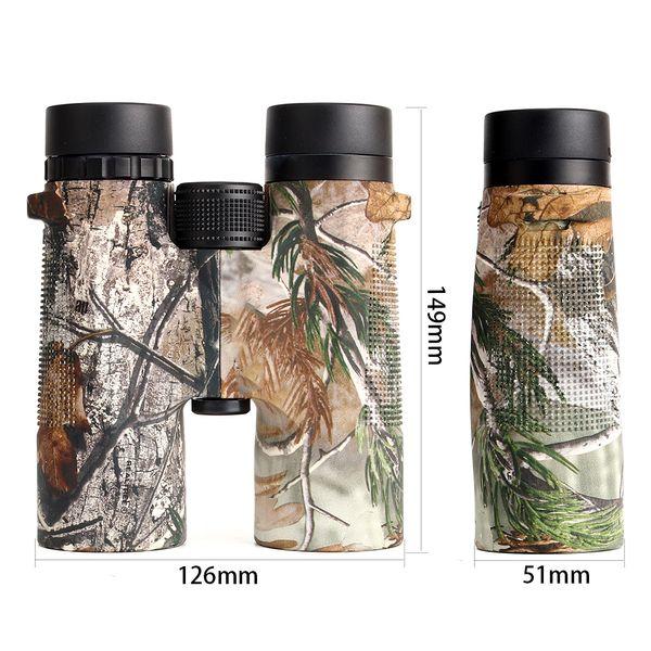 10x42 camouflage hunting binoculars waterproof anti-fog telescope wide-angle bright optics camping hiking binocular maple leaf pattern thumbnail