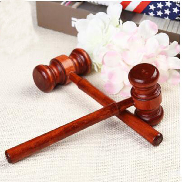 1pc mini hammer lawyer decoration hammers judge hammer wooden wood multitool small birthday gift christmas toy thumbnail
