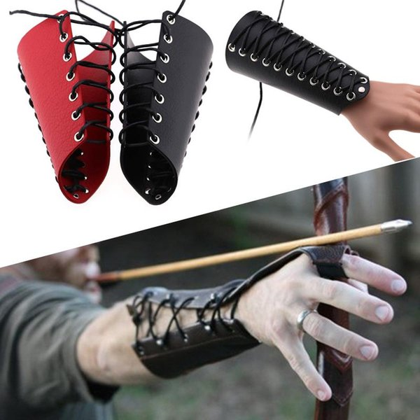 adjustable wax rope 18cm accessories cuff strings wristband bracer archery arm guard hand armband arm protective tools outdoor thumbnail