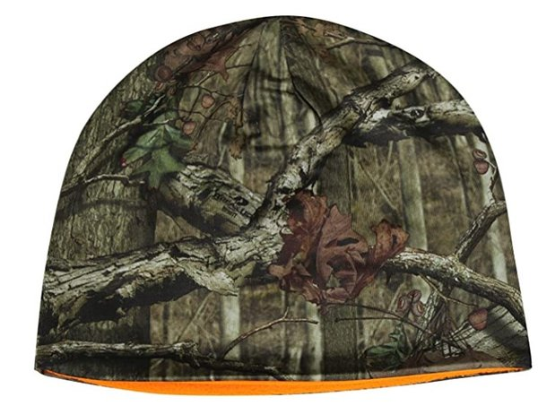 2020 fall winter mos*y oak men's hunting beanie reversible camouflage beanie blaze one size thumbnail
