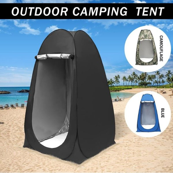 -up automatic tent wc tent canvas waterproof outdoor camping shower for 1 person ul tents outdoor family tourism tente thumbnail
