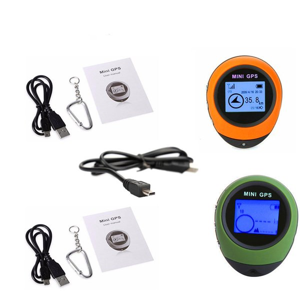 2 pcs rechargeable usb mini gps navigation receiver tracker logger handheld gps location finder tracking for outdoor travel thumbnail