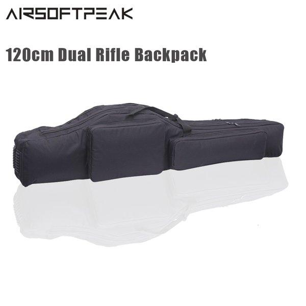 120cm tactical gun backpack dual rifle bag airsoft waterproof gun holster sun padded case hunting bags backpack thumbnail