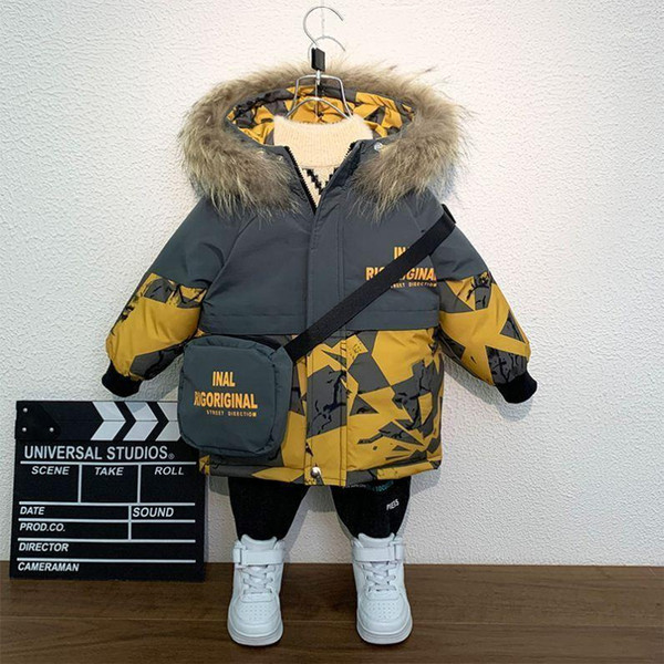 2020 new boys girls cool outerwear zip hoodie jacket winter fall children's camouflage jacket windbreaker with bag boys clothes1 thumbnail