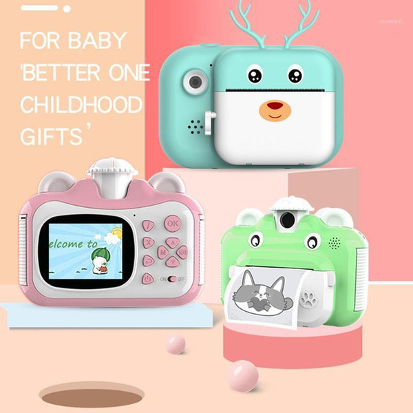 1080p hd children camera instant print camera for kids polaroid with thermal p paper toys for birthday gifts1 thumbnail
