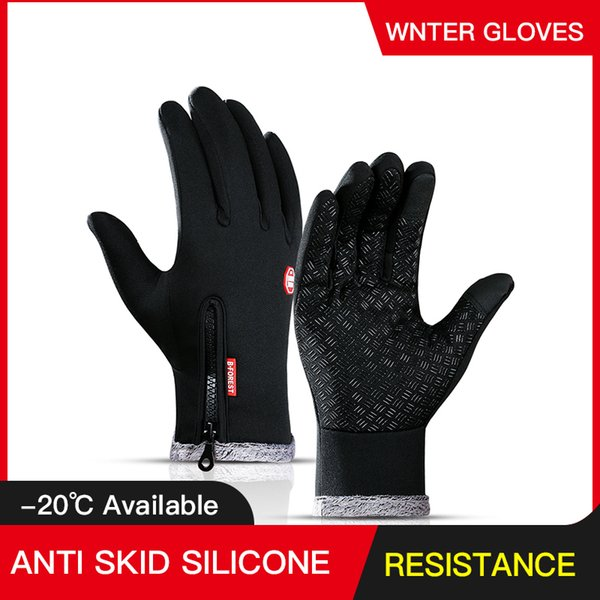 -30 warmer winter female glove touch screen waterproof mitten gloves men tactical no finger gloves for outdoors skiing 201020 thumbnail