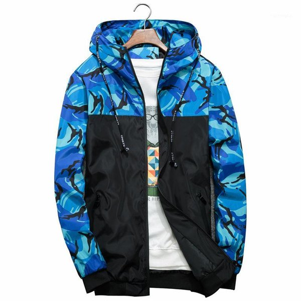 [ready stock]outerwear men's casual thin camouflage jacket in korean version men's waterproof jacket collar casual1 thumbnail