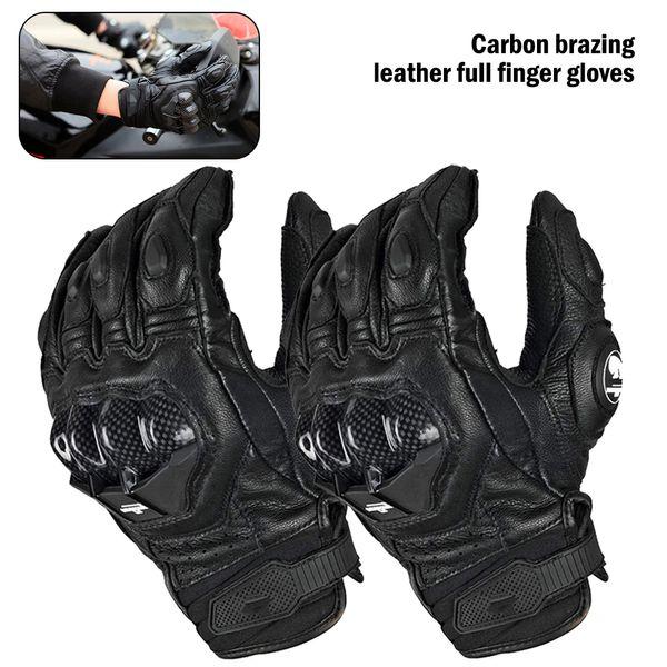 2020 new leather moto racing carbon fiber bicycle cycling motorbike riding glove furygan afs 6 motorcycle men's gloves thumbnail