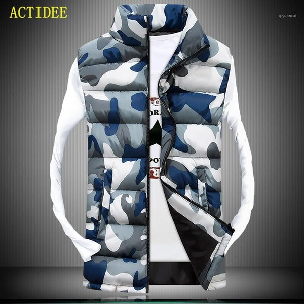 2016 men's stand collar camouflage vest men winter sleeveless casual jackets male female slim camo waistcoat brand clothing1 thumbnail
