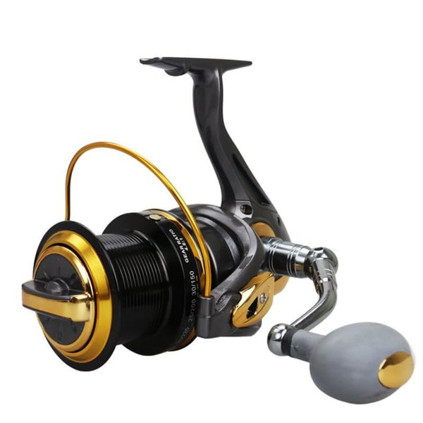 12+1bb 4.6:1 tf8000-110000 series big long srod wheel spinning fishing line reel distant sast trolling raft sea rock lake thumbnail