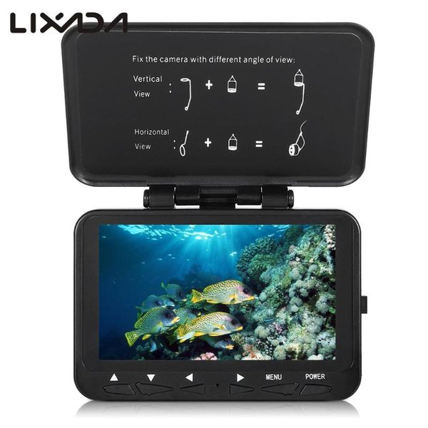 1000tvl fish finder underwater with trolling reel 4.3 lcd monitor 8 infrared night vision camera 140 angle 15m / 30m cable thumbnail