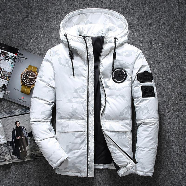 -20 degrees men's winter jacket thick snow parka white duck down jacket mens camouflage jackets wind breaker brand hooded coats thumbnail