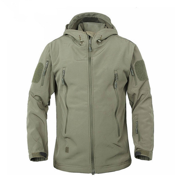 2019 outdoor waterproof softshell jacket hunting windbreaker ski coat hiking rain camping fishing tactical clothing men&women q1207 thumbnail