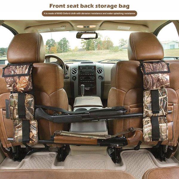 2pcs car back seat sling rack organizer portable camo gun ammo sgun storage belt holder rifle supplies bags thumbnail