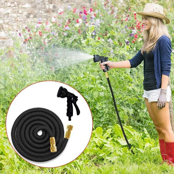 50-100ft hose nozzle watering sprinkler washer spray garden wash pressure water gun car for household safe accessories equipments thumbnail
