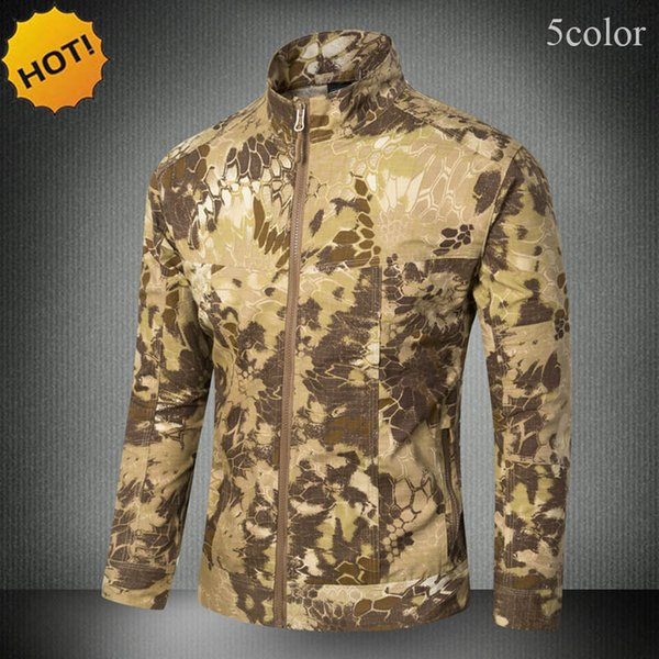 2017 outdoors wear-resisting commando tactical army waterproof windproof jacket men camouflage cargo coat s-xxxl thumbnail