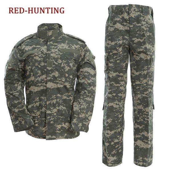 112/5000 us army multi-camera acu combat uniform jacket pants outdoor hunting hiking pants cool men thumbnail