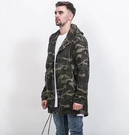 2017 high street warm green camouflage long jackets hip hop winter men coat fashion men casual jackets and coats oversize thumbnail