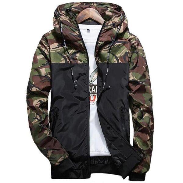 2019 iggy spring autumn mens casual camouflage hoodie jacket men waterproof clothes men's windbreaker coat male outwear 5xl thumbnail