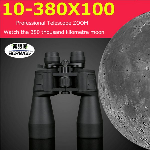 10-380x100 professional telescope long range zoom hunting binoculars high definition camp hiking night vision telescope thumbnail