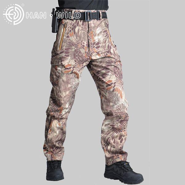 10 colors available outdoor men fleece pants softshell hiking pants waterproof windproof camo hunting tactical thumbnail