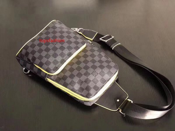 #64904 5a l avenue man chest bag damier graphite pixel travel bag men women fashion v geronimos chest outdoor sports shoulder pouch bags thumbnail