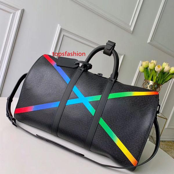 #6458 5a l keepall bandouliere large capacity women travel bag 50cm galaxy taiga v men shoulder duffel bags carry luggage handbag bag m30345 thumbnail