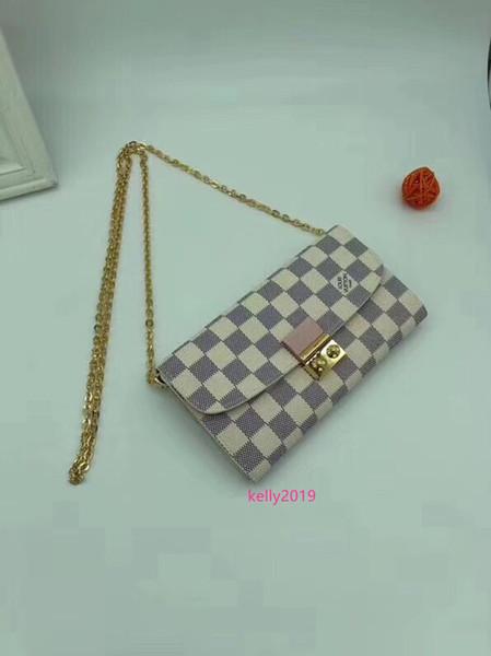 #46589 genuine leather pochette felicie 3pcs l brand v presbyopic women wallet fashion chain shoulder bag pochette mobile card holder purse thumbnail