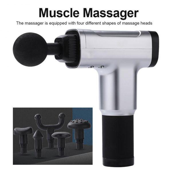1pc massage gun muscle relaxer 5 speed adjustment safe to use relaxation customized ergonomic massage head dropship thumbnail