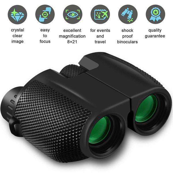 10x25 binoculars hd all-optical double green film waterproof binoculars telescope for hunting travel sports trekking bird watch thumbnail