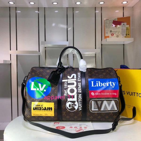 #6414 5a l keepall bandouliere large capacity women travel bag 50cm galaxy taiga v men shoulder duffel bags carry luggage handbag bag m44643 thumbnail