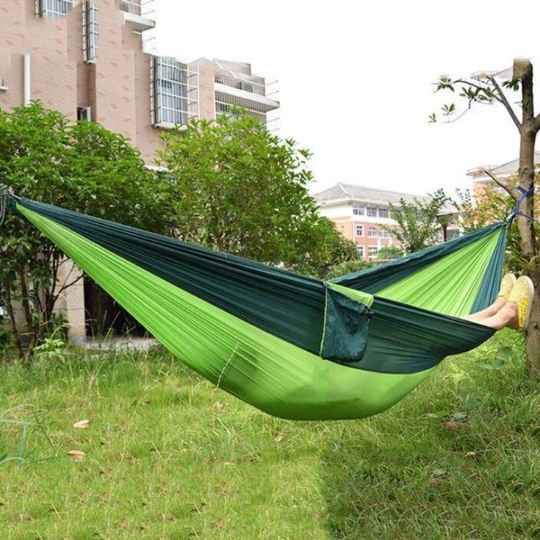 20pcs/lot portable hammock double person camping survival garden hunting hanging sleeping chair travel parachute hammocks thumbnail