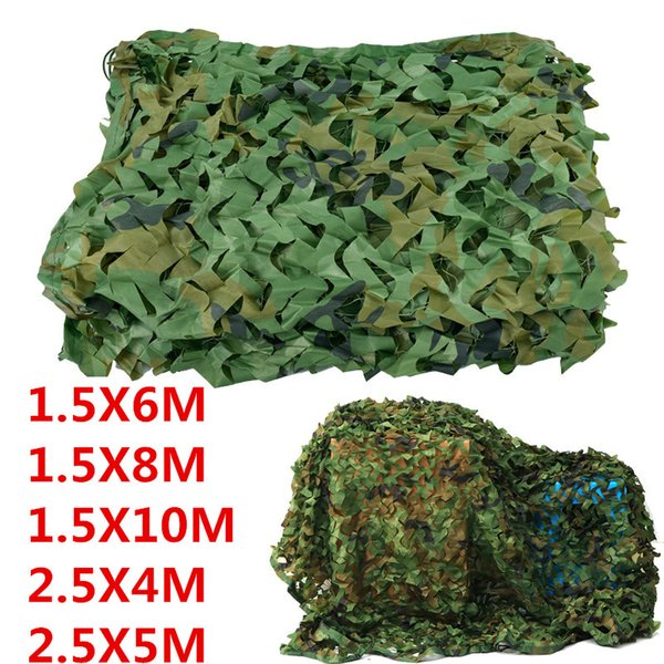 1.5x8m,1.5x10m outdoor jungle camouflage nets camping hunting blinds woodland army camo netting sun shelter tent thumbnail
