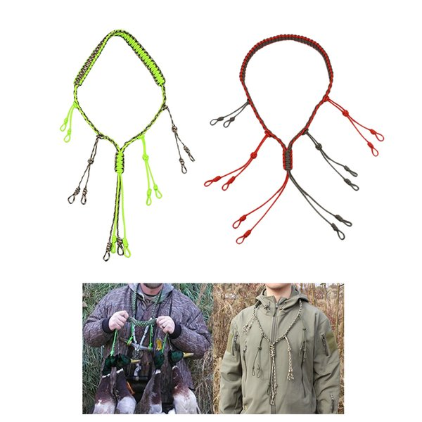 2pcs hand braided hunting duck whistle lanyard 65cm thumbnail