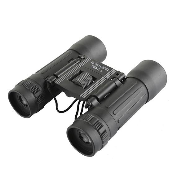 12x30 hd wide-angle binoculars telescope portable red membrane optics binocular for hunting mini telescope luneta binoculos thumbnail