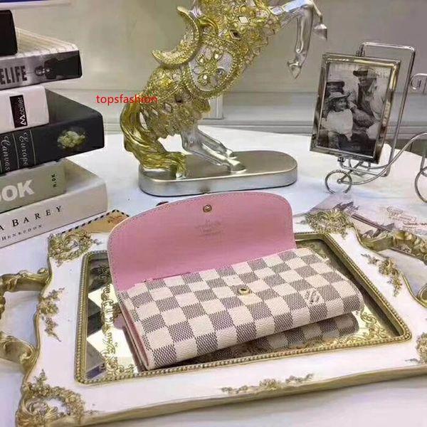 #6874 5a brand sarah women wallet button long emilie exotic ladies card pouch round coin purse m60531 m62236 m62234 m62235 n63208 thumbnail