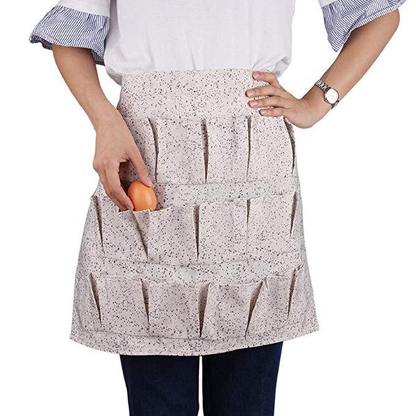 15 pockets egg collecting harvest apron chicken farm work aprons carry duck egg collecting farm apron thumbnail