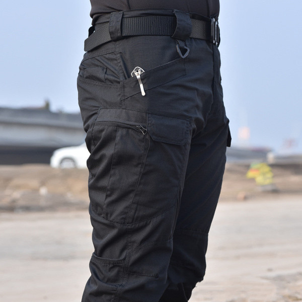 2019 tactical pants military cargo pants men knee pad swat army airsoft solid color clothes hunter field combat trouser woodland y200114 thumbnail